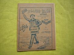 Agenda Bijou Petit Format 1894 Offert Par Le Petit Méridional - Calendriers