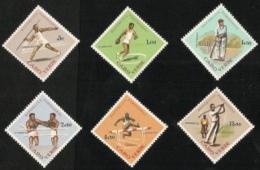 Cape Verde,  Scott 2017 # 320-325,  Issued 1962,  Set Of 6,  MLH,  Cat $ 15.25,  Sports - Cape Verde