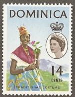 Dominica,  Scott 2017 # 173,  Issued 1963,  Single,  MLH,  Cat $ 2.50,  Costume - Dominica (1978-...)
