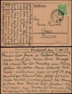 DR Infla. Postkarte, Gel. DORNBUSCH 11.5.1923 N. Stade (Mi. 232 EF).