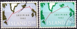 IJsland 1962 Telefoonkabel Serie GB-USED. - 1944-... Republik
