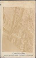 POS-334 CUBA PHOTOGRAFIC POSTCARD SANTIAGO DE CUBA. CIRCA 1920. VISTA DESDE AVION. AIRPLANE. UNUSED. - Cuba