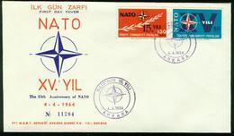 FD Türkei FDC 1964 - MiNr 1899-1900 - 15 Jahre Nordatlantikpakt (Nato) - Altri