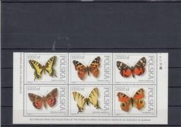 Pologne - Neufs** - Année 1991 - Papillons Divers - YT 3144/3149 - 1944-.... Repubblica