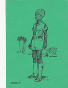 CPM  SOUDAN Scout Scoutisme Illustrateur Pierre JOUBERT (2 Scans) - Scouting