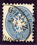 AUSTRIA  1863 Arms 10 Kr. Perf. 9½ Cancelled Graz.  Michel 33 - 1850-1918 Empire