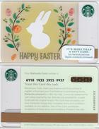 Starbucks - USA - 2015 - CN 6118 SB75 Happy Easter 2016 - Gift Cards