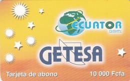 Equatorial Guinea, EQG-Pre-004,10,000 FCFA, Yellow – Getesa, 2 Scans. - Equatoriaal Guinea