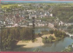 18 - SAINT AIGNAN--Vue Aerienne Au 1° Plan L'Ile Plage-pont Sur Le Cher-Eglise St Aignan Le Chateau - France