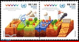 Ref. BR-V2015-03 BRAZIL 2015 ONU, UN, UN WORLD CONFERENCE ON, DISASTER RISK REDUCTION, JAPAN, SET MNH 2V