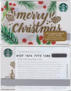 Starbucks - USA - 2016 - CN 6127 1674 SB81 Merry Christmas - Gold Serie - Gift Cards