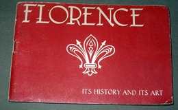 Florence Firenze Italie Italia - Brochure En Anglais - 60 Pages Avec Illustrations N&B - Dépliants Touristiques