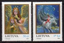 Ref. LT-558-59 LITHUANIA 1996 CHRISTMAS, SET - RELIGION, MI# 625-626 - MINT MNH 2V Sc# 558-559