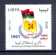 Lybie/Libya 2016 - Anniversaire De L'indépendance De La Lybie  Timbre 1v - Excellente Qualité ** - Libya