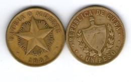 MONETA 1 PESO CUBANO 1983 - Cuba