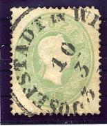 AUSTRIA  1860 Franz Joseph 3 Kr,  Perf. 14 Used.  Michel 19 - Used Stamps