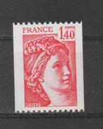 FRANCE / 1980 / Y&T N° 2104 ** : Sabine 1F40 Rouge De Roulette - Gomme D´origine Intacte - France
