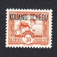 KOUANG TCHEOU - N°113 (Yvert)  - Sans Charnière - 30 Cents Brun - Unused Stamps