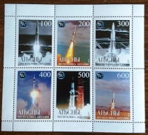 RUSSIE Cosmos Espace, Feuillet 6 Valeurs Emis En 1999. APOLLO NASA. ** MNH - Space