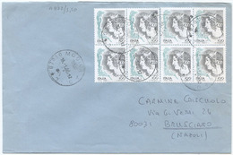 1999 DONNE L.100 E L.100/0,05 QUARTINE BUSTA 18.1.00 TARIFFA LETTERA GEMELLI TIMBRO ARRIVO OTTIMA QUALITÀ (A872) - 6. 1946-.. Repubblica