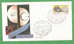 FDC Roma Giornata Ofralmologia 1986 Busta Primo Giorno Da 550 Lire Fdc - FDC