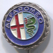 ALFA ROMEO - Car, Auto, Automotive, Vintage Pin, Badge, Abzeichen, BERTONI MILANO - Alfa Romeo