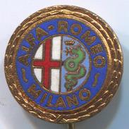 ALFA ROMEO - Car, Auto, Automotive, Enamel, Vintage Pin, Badge, Abzeichen - Alfa Romeo