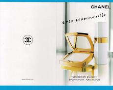 Cartes Parfumées Carte CHANEL COCO MADEMOISELLE De CHANEL DOUBLE RECTO VERSO CARTE AMÉRICAINE - Modernes (à Partir De 1961)