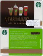 Starbucks - UK - 2016 - CN 6129 SB69 Cups - Gift Cards