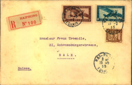 1935, Registered Airmail From HAIPHONG To Bale - Ohne Zuordnung