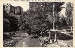 11 RIEUX MINERVOIS Les Bords De L´Argent Double ,le Chateau  Animée - Autres Communes
