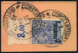 1904, 1 Piaster Auf 20 Pfg. Vom Plattendruck-Oberrand Auf Briefstück Gestempelt CONSTANTINOPEL 1. - Ufficio: Turchia