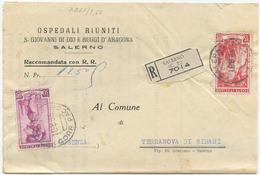 1955 LAVIRO L. 35 + 30 PIEGO RACCOMANDATO 18.8.55 TIMBRO ARRIVO E OTTIMA QUALITÀ (7067) - 1946-60: Storia Postale