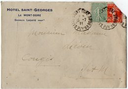 TB 2171  - LSC - Hôtel Saint - Georges G.LAGAYE Propriétaire  LE MONT DORE - 1921-1960: Periodo Moderno