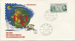 ITALIA - FDC SILIGATO 1965 - U.I.T. - TELECOMUNICAZIONI - 6. 1946-.. Republic