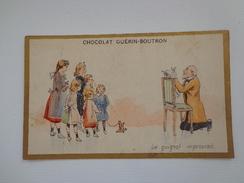 CHROMO CHOCOLAT GUERIN BOUTRON  LE GUIGNOL IMPROVISE - Guérin-Boutron
