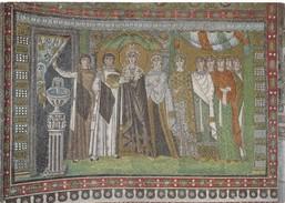 RAVENNA, S. Vitale, Pannello Raffigurante L'imperatrice Teodora E La Sua Corte, Unused Postcard [19461] - Ravenna
