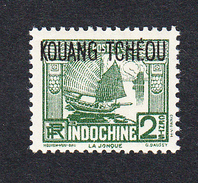 KOUANG TCHEOU - N°103 (Yvert)  - Légère Trace De Charnière - 2 C Vert - Unused Stamps