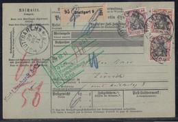 DR Pakletkarte Mef Minr.3x 90I Stuttgart 29.3.11 Gel. In Schweiz - Deutschland