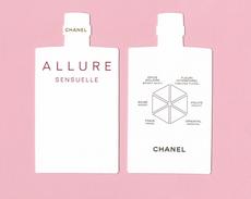 Cartes Parfumées Carte CHANEL ALLURE SENSUELLE    De CHANEL      HAUTEUR TOTALE 9 CM - Cartes Parfumées