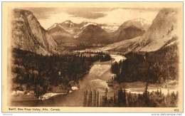 Sepia Pictorial Postcard  -Banff, Bow River Valley, Alberta .  #455  Unused - 1903-1954 Reyes