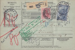 DR Pakletkarte Mif Minr.86I, 95AI Stuttgart 8.12.10 Gel. In Schweiz - Deutschland