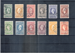 Nederland  - Yv.82/93 - Série Jubilé Complète - Obl/gest/used - Cote:1200,00  (à Voir) - 1891-1948 (Wilhelmine)