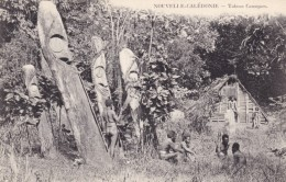 New Caledonia Tabous Canaques Tribal Totem Carvings C1900s Vintage Postcard - New Caledonia