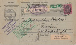 DR Paketkarte EF Minr.77 Berlin 13.1.05 Gel. In Schweiz - Deutschland