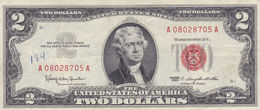 USA 2 $ DOLLARS 1963 RED SEAL  NOTE VF - Billetes De Estados Unidos (1928-1953)
