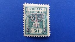 "POLAND 1919 FIRST POLISH STAMPS EXHIBITION OVERPRINTED NORTHERN POLAND STAMP ""1 POLSKA WYSTAWA"" MNH - 1919-1939 Republic"