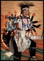 POSTKARTE INDIANISCHER GEISTERTÄNZER VOM CREE STAMM Indian Indians Indien Feather Headdress Coiffe Cpa AK Ansichtskarte - Indianer