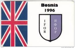 UK - BOSNIA 1996/IFOR, A Comms Satellite Prepaid Card 50 DM, Mint - Bosnia