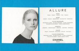 Cartes Parfumées Carte CHANEL ALLURE     De CHANEL - Cartes Parfumées